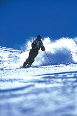 Esquiando en Termas de Chillán